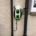 Home charging station on house