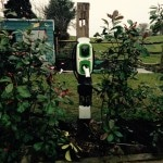 electric car charge point on post