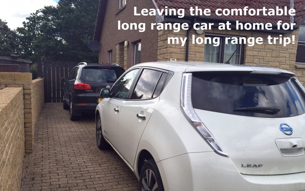 Nissan leaf at home Jorro charge point installer